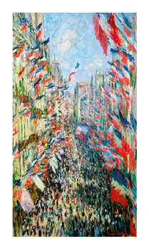 The Rue Montorgueil, Paris - Celebration of June 30, 1878