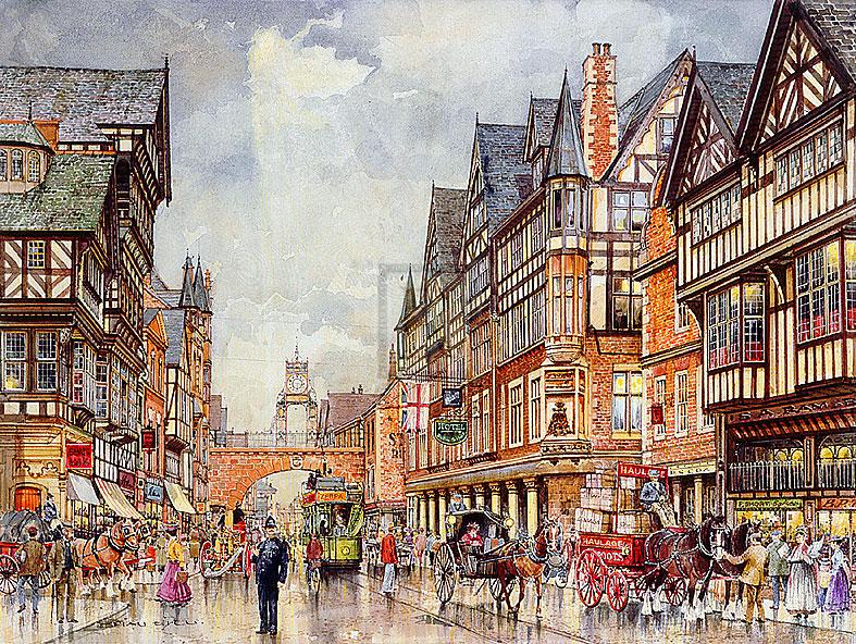 纪前的英伦小镇