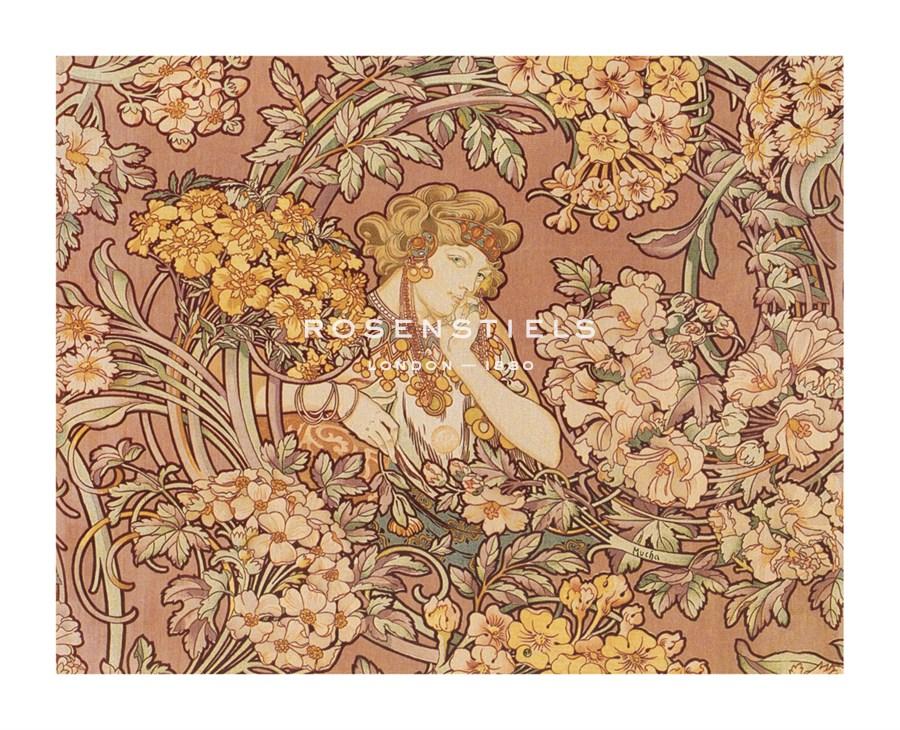 Alphonse Mucha | Redhead Among Flowers | Detail | Rosenstiel's