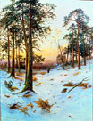 Wooded Snowy Landscape by Daniel Sherrin
