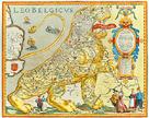 Leo Belgicus, 1617 by Claes Janszoon Visscher