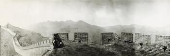 Great Wall of China, 1906 - View from a watch towers