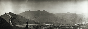 Great Wall of China, 1906 - Panorama