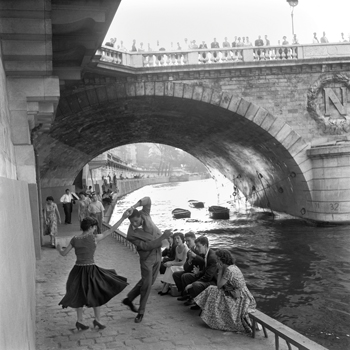 Rock 'n' Roll Dancers on Paris Quays, River Seine, 1950s