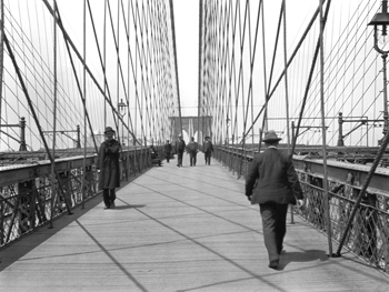 New York, Brooklyn Bridge, 1905
