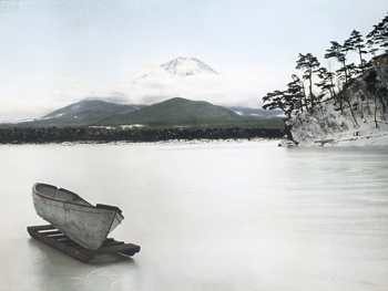 Japan, view of Mount Fuji, Lake Yamanaka