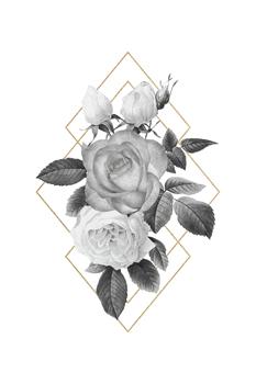 Floral Luxe Geo - Noir