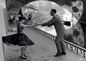 Rock 'n' Roll Dancers on Quays of Paris, River Seine, 1950s