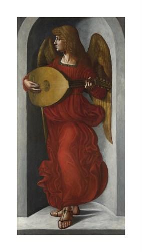 An Angel in Red with a Lute - Leonardo da Vinci