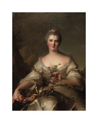 Portrait de Madame de La Porte, 1752 by Jean-Marc Nattier