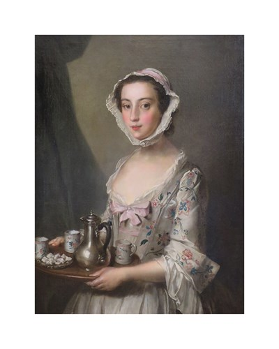 Girl with a Tray,  c.1750 by Philippe Mercier