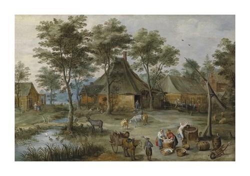 Village Scene at Ziehbrunnen by Pieter Brueghel the Younger