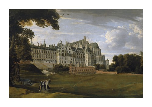The Royal Palace in Brussels (The Palace of Coudenberg) by Pieter Brueghel the Younger