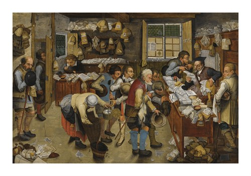 The Village Lawyer's Office by Pieter Brueghel the Younger