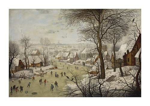 Winter Landscape with a Bird Trap by Pieter Brueghel the Younger