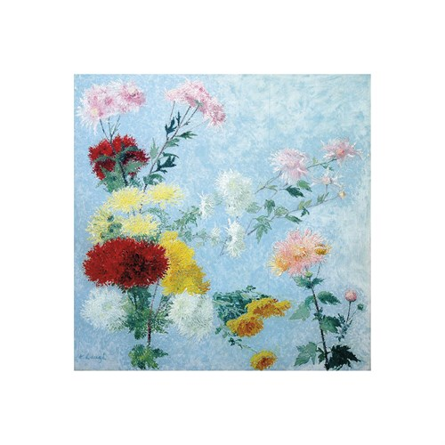 Study of Chrysanthemums by Achille Lauge