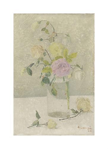 Vase of Roses Study by Achille Lauge
