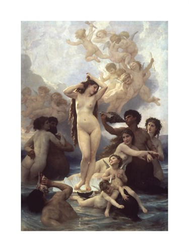 Birth of Venus by William Adolphe Bouguereau