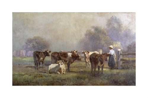 Early Morning Milking by Jan Hendrik Scheltema