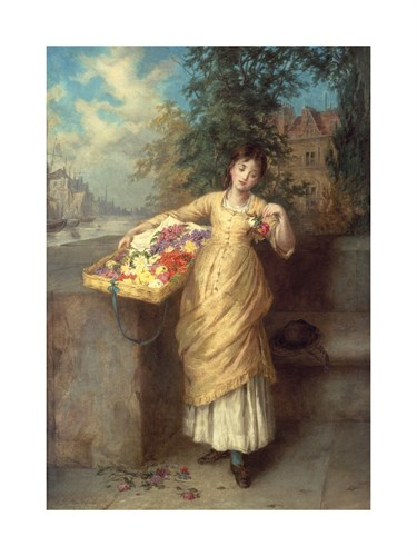 The Flower Seller by Augustus Mulready
