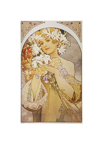 Flower: Final Study for Decorative Panel, 1897 by Alphonse Mucha