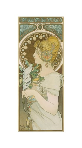 La Plume, 1899 by Alphonse Mucha