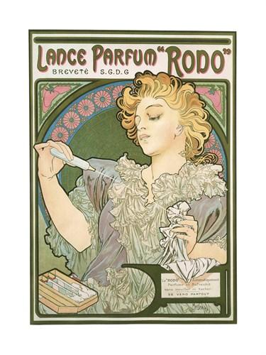 Lance Parfum Rodo, 1896 by Alphonse Mucha
