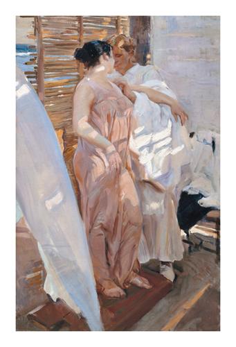After The Bath, The Pink Robe by Joaquín Sorolla y Bastida
