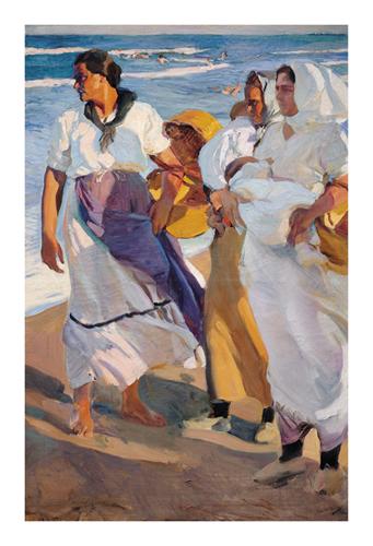 Fisherwomen from Valencia by Joaquín Sorolla y Bastida