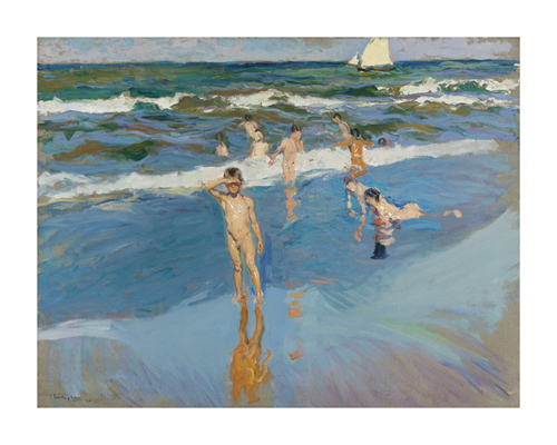 Children in the Sea, Valencia Beach by Joaquín Sorolla y Bastida