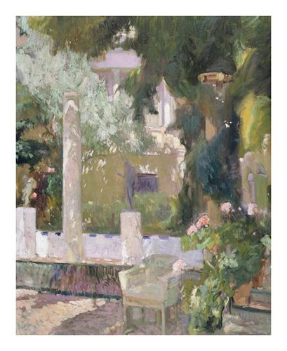The Gardens at the Sorolla Family House by Joaquín Sorolla y Bastida