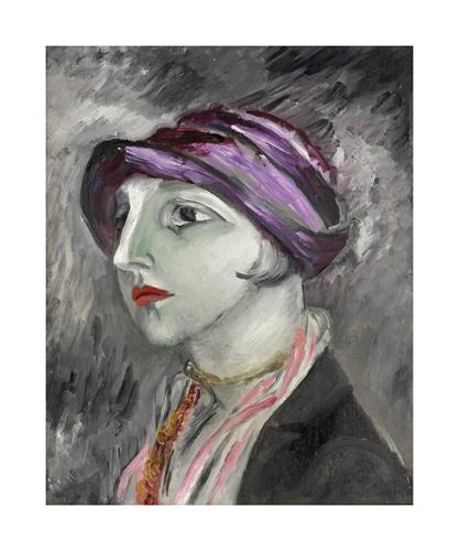 The Violet Hat by Sigrid Hjerten