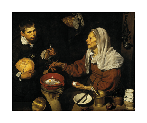 Old Woman Frying Eggs by Diego Velazquez
