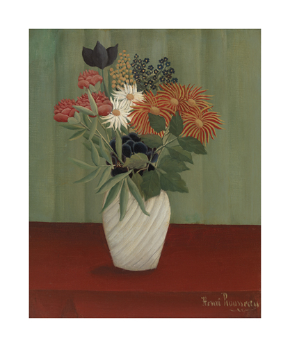 Bouquet of Flowers with China Asters and Tokyos, 1910 by Henri Rousseau