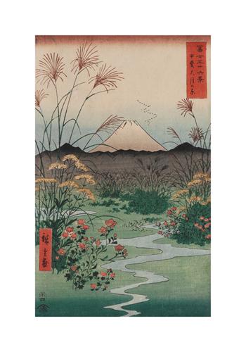 Otsuki Plain in Kai Province by Andro Hiroshige