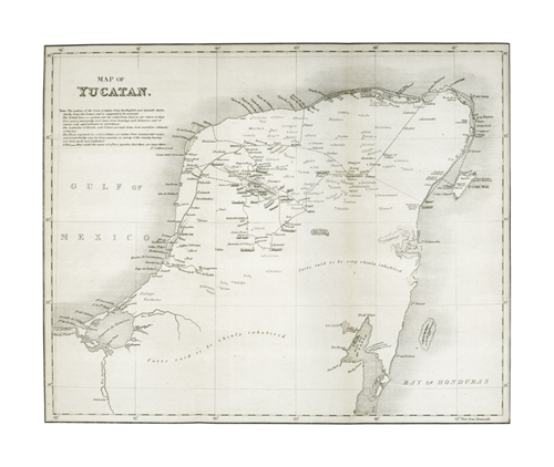 Map of Yucatan by The Vintage Collection