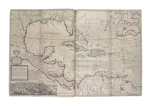 A Map of the West Indies by The Vintage Collection