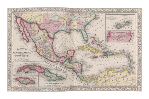 Map of Mexico by The Vintage Collection