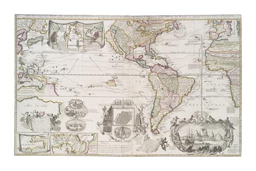 Carte Nouvelle de la mer du Sud by The Vintage Collection