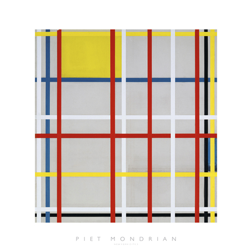 New York City, 3 by Piet Mondrian