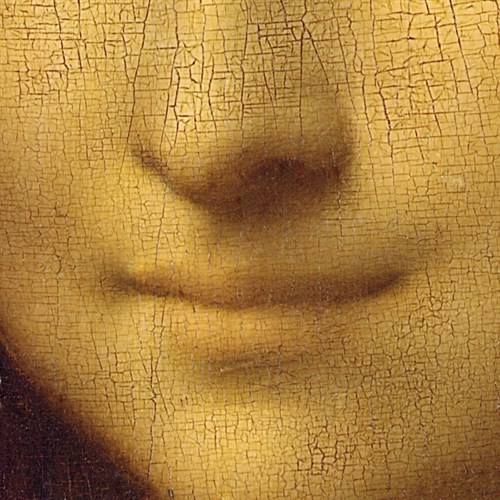 Mona Lisa - Detail of her Smile - Leonardo da Vinci