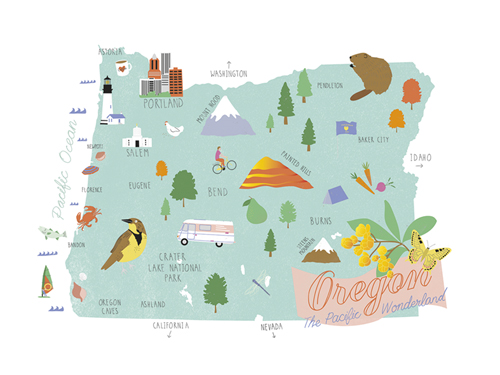 American State - Oregon by Clara Wells