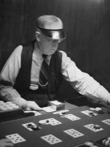 Vegas Dealer by Kernud Hansen