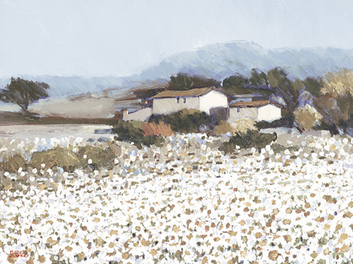 Tranquil Farm Near Bini by Hazel Barker