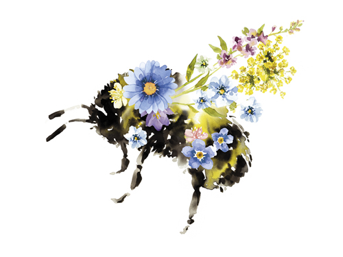 Fantasia Floral Bee by Kristine Hegre