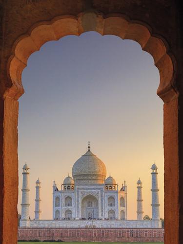 Taj Mahal Sunset by Maurizio Rellini