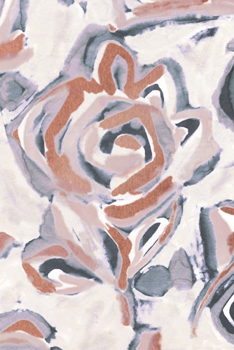 Coastal Floral II - Fade by Sandra Jacobs