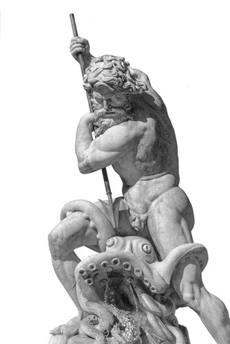 Neptune Impales Octopus by Alan Copson