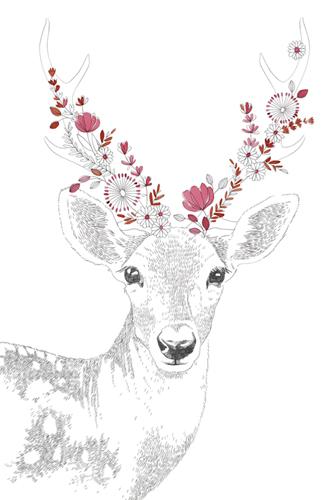 Woodland Wonders - Deer by Kristine Hegre
