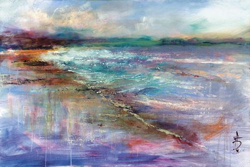 Aqua Seascape - Anne Farrall Doyle